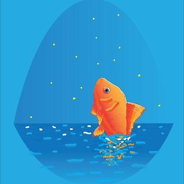 The Golden Fish by mrnuma