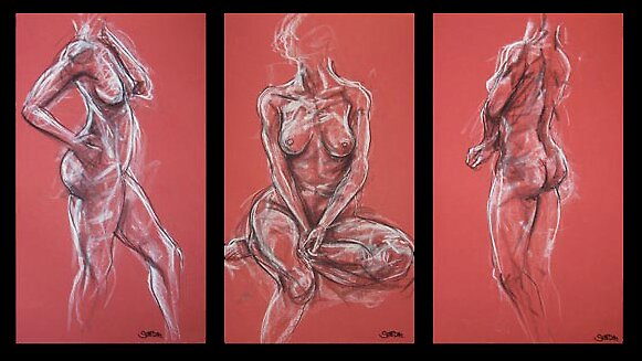 byron model's torsos by Scott Dall