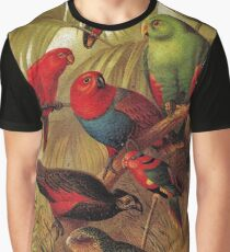Parrots in the Jungle Graphic T-Shirt