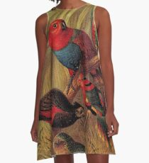 Parrots in the Jungle A-Line Dress