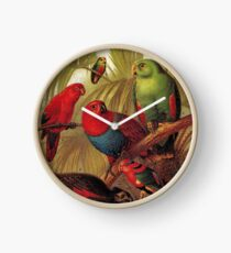 Parrots in the Jungle Clock