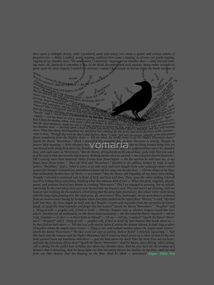 The Raven by Edgar Allan Poe by vomaria