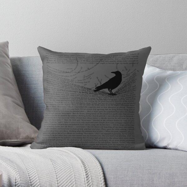 The Raven by Edgar Allan Poe Throw Pillow