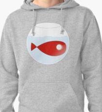 Petit poisson rouge dans un bocal Pullover Hoodie