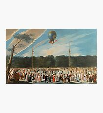 Carnicero Mancio, Antonio - Ascent Of A Montgolfier Balloon At Aranjuez Photographic Print