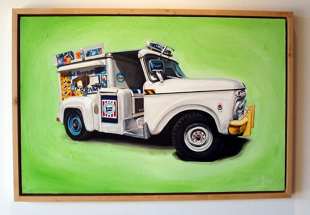 Ice Cream Truck, green by Jeff Zimmermann