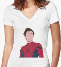 Tom holland, peter parker Women's Fitted V-Neck T-Shirt