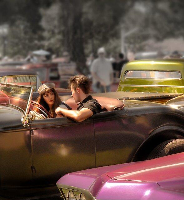 Portrait of a Hot Rod Couple by Paul Vanzella