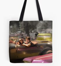 Portrait of a Hot Rod Couple Tote Bag