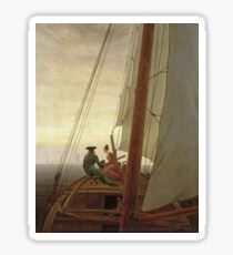 Caspar David Friedrich - On Board A Sailing Ship Sticker