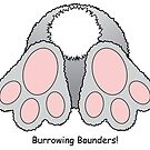 Bunny rabbit burrowing bounders by Running-Duck