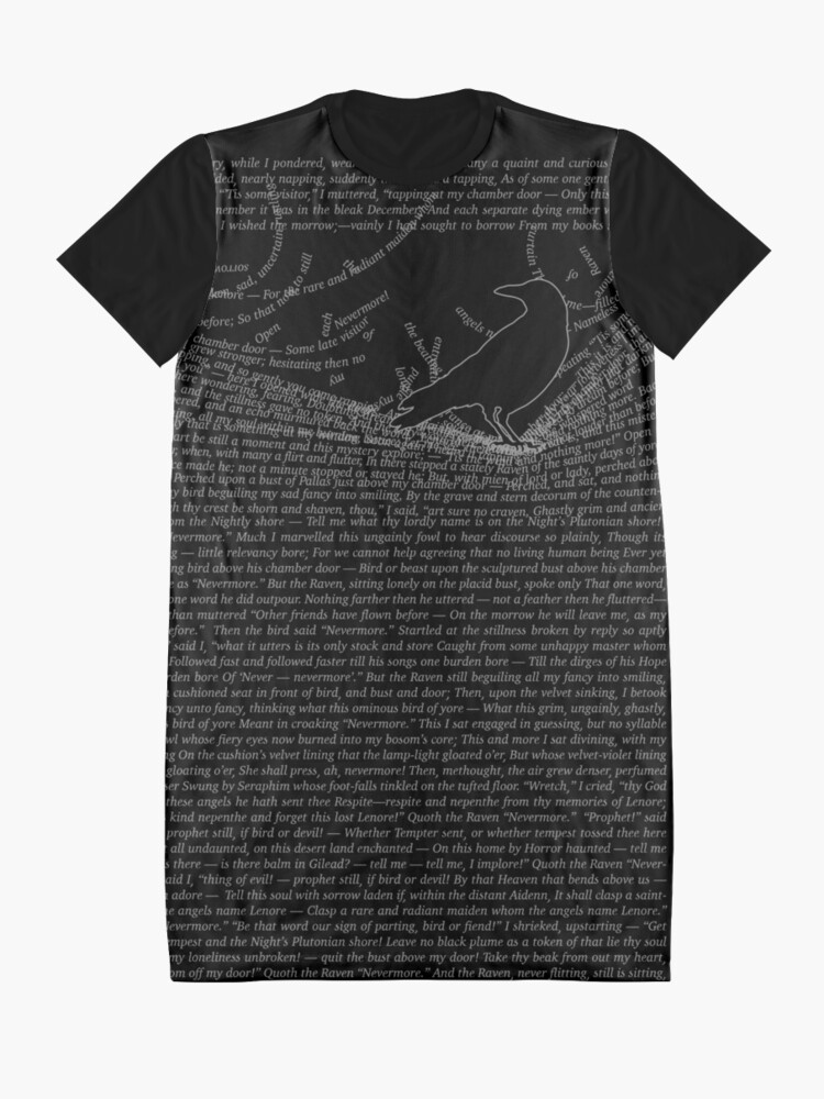 Alternate view of The Raven by Edgar Allan Poe Graphic T-Shirt Dress