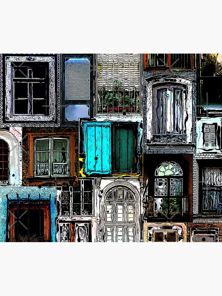 Textural Windows Collage by perkinsdesigns