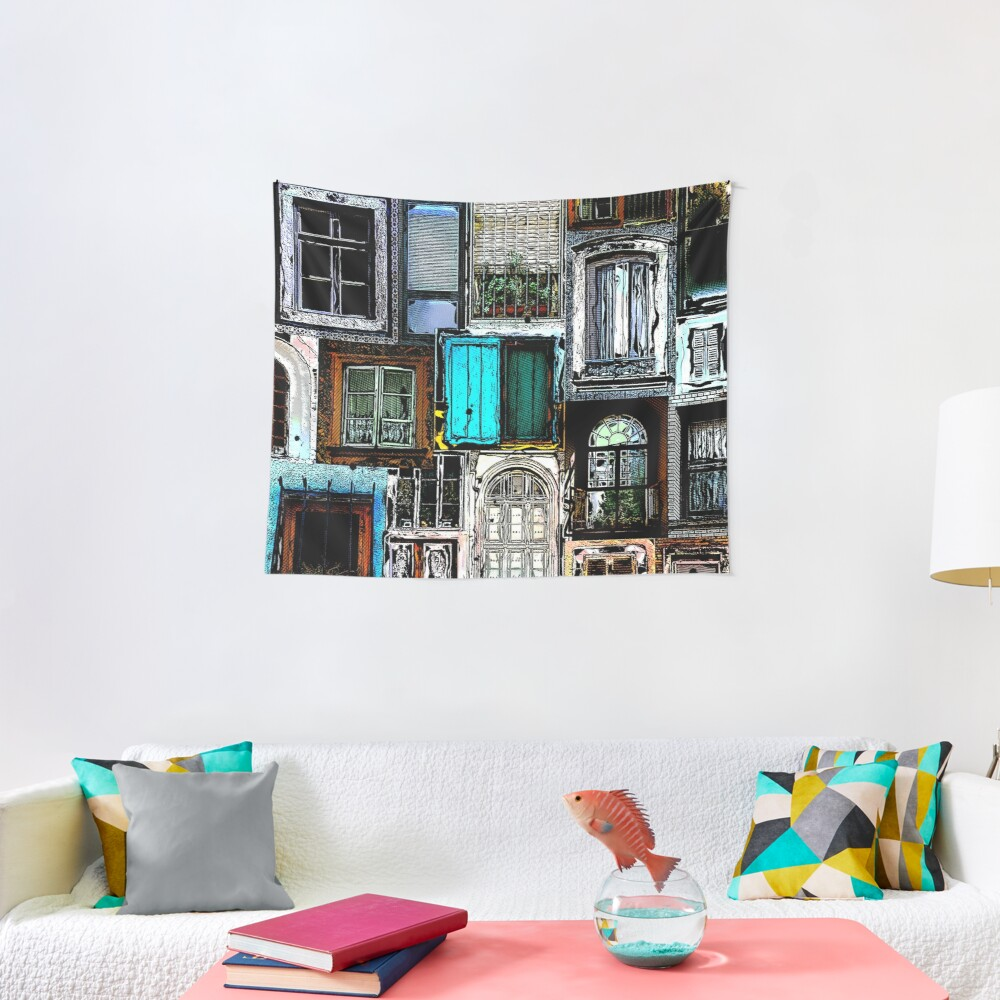 Textural Windows Collage Tapestry