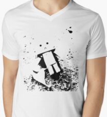 Lost Robot Mens V-Neck T-Shirt