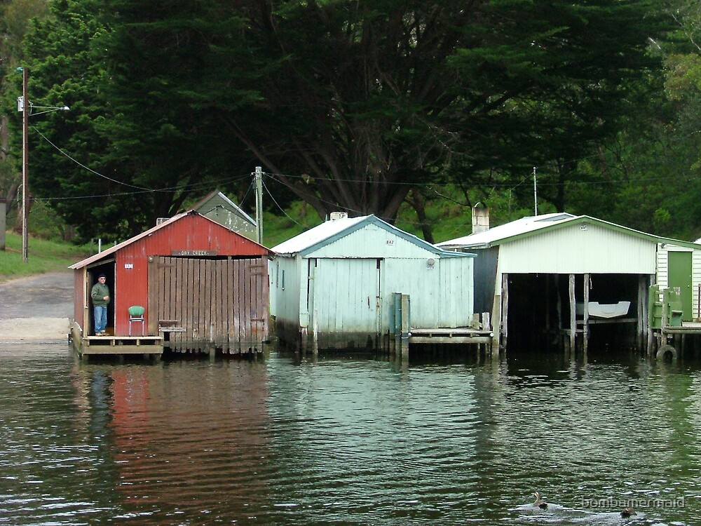 Shacks on the River by bombamermaid