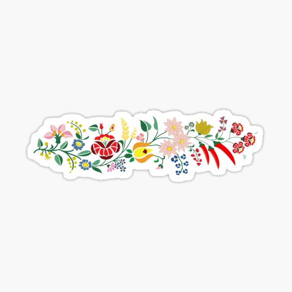 Hungarian embrodery design Sticker