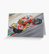 Valentino Rossi Ducati oil painting Greeting Card