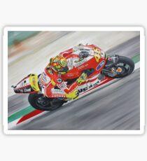 Pegatina Pintura al óleo de Valentino Rossi Ducati