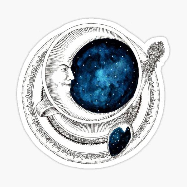 Teacup Moon Sticker
