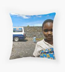 'Orphan & Child,' Southern Democratic Republic of Congo Throw Pillow