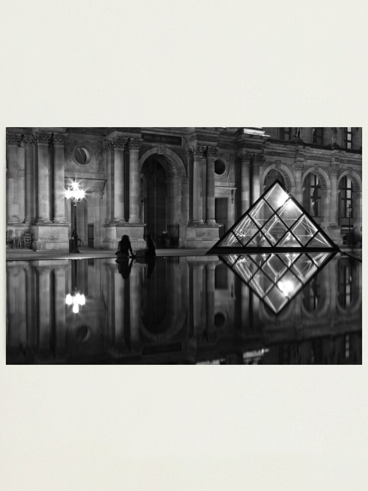 Alternate view of The Louvre Photographic Print