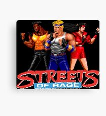 STREETS OF RAGE - AXEL-BLAZE-ADAM  Canvas Print