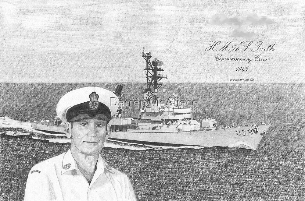HMAS Perth Commissioning Crew by Darren McAliece