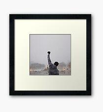ROCKY BALBOA - CLASSIC STAIRS TRAINING SCENE Framed Print