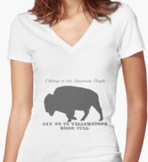 bison cull Women's Fitted V-Neck T-Shirt