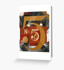 Charles Demuth - I Saw The Figure 5 In Gold Greeting Card