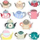 Vintage teapots by Koaladesign