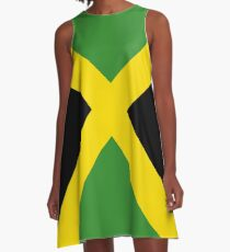Jamaica flag designs A-Line Dress