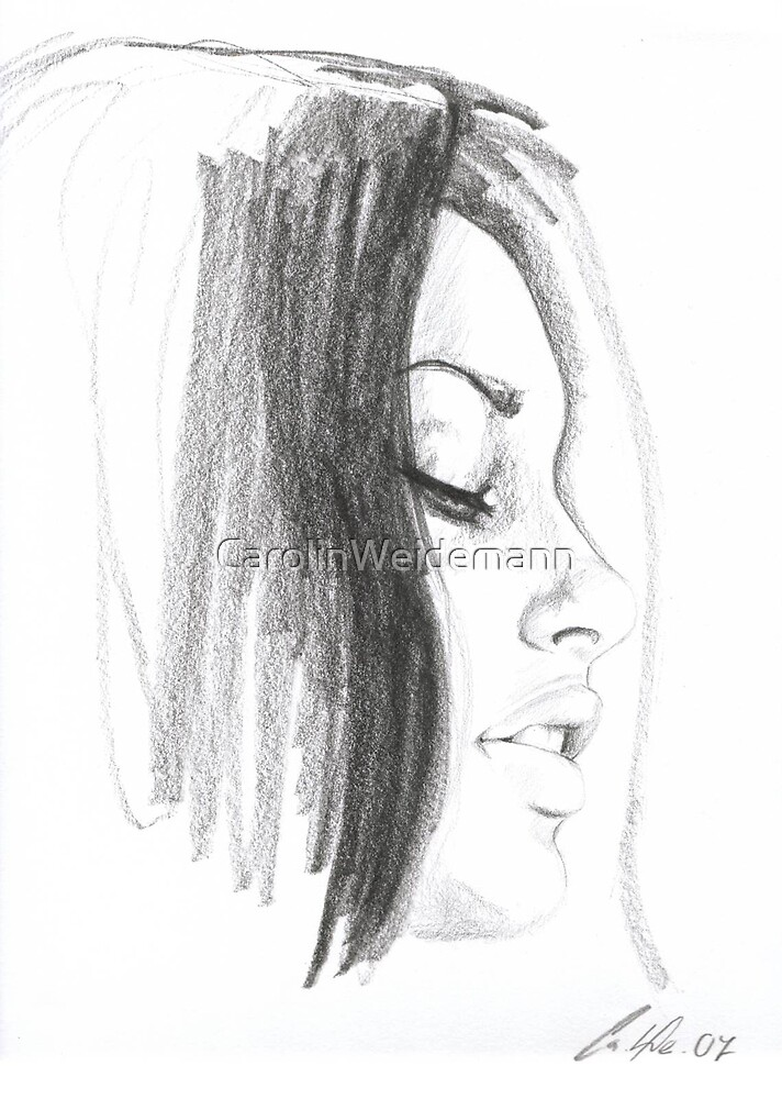 woman profile by CarolinWeidemann