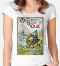 OZ; Vintage Game Advertising Print Women's Fitted Scoop T-Shirt