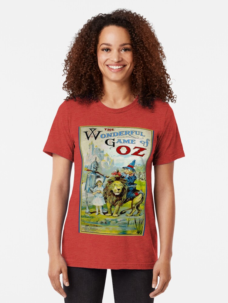Alternate view of OZ; Vintage Game Advertising Print Tri-blend T-Shirt