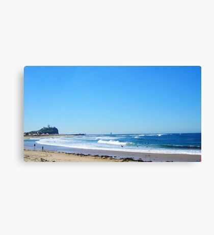 Beach to Nobbys Canvas Print