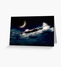 Moonlit Bomber Greeting Card