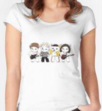 Meow Rockband Tailliertes Rundhals-Shirt