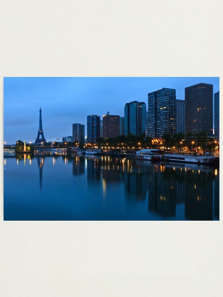 Alternate view of Sunrise on Paris Photographic Print