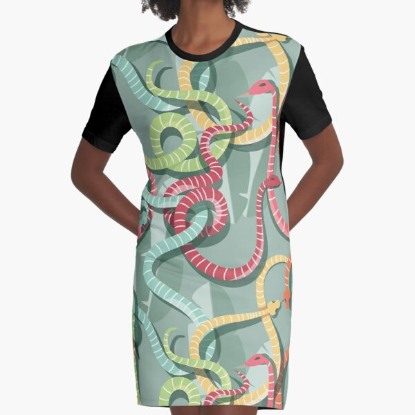 Snake pattern 002 Graphic T-Shirt Dress