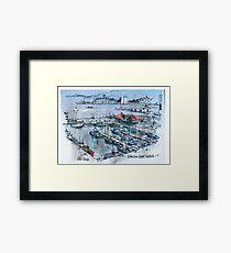 Victoria Docks, Hobart, Tasmania Framed Print