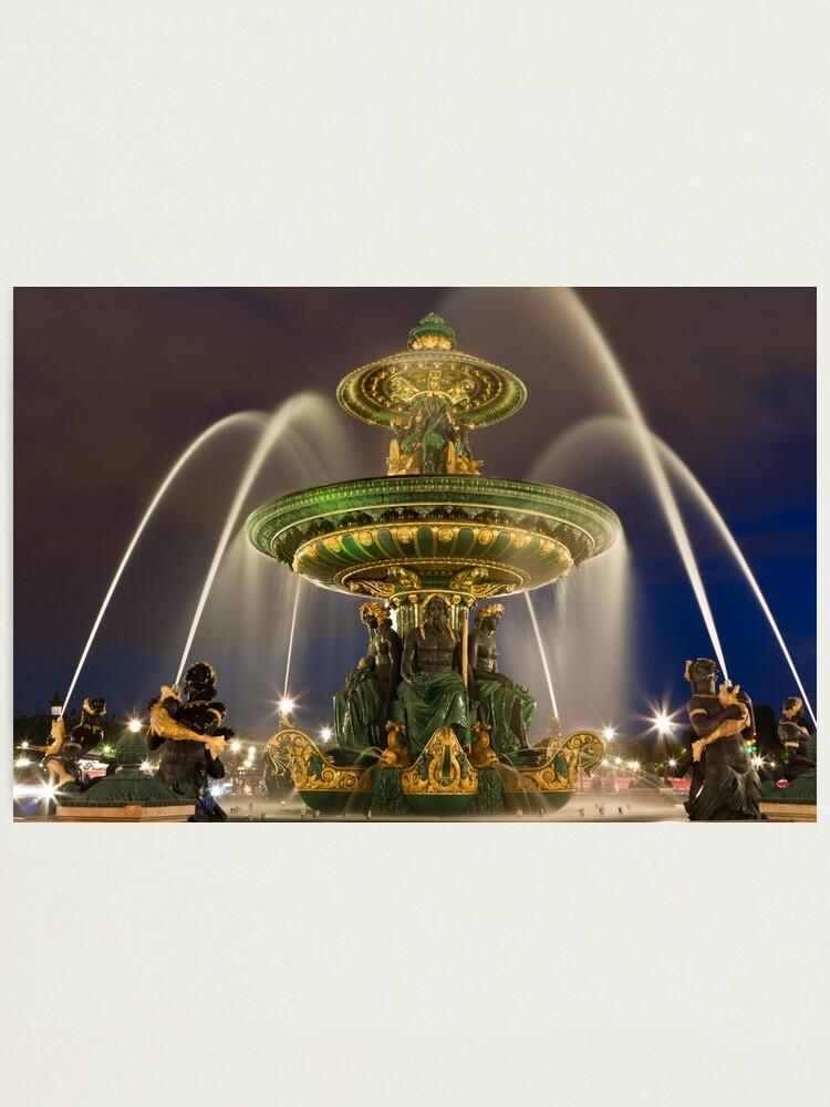 Alternate view of Place de la Concorde in Paris Photographic Print