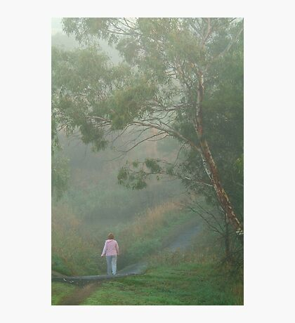 Misty Morning Walk,Waurn Pond Creek Photographic Print