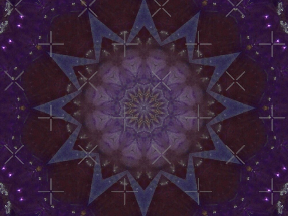 Kaleidescope - Purple by Sandra Chung