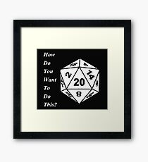 critical role Framed Print