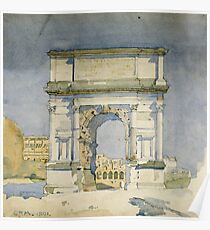 Charles Rennie Mackintosh - Rome, Arch Of Titus Poster