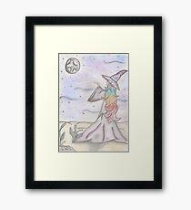 Lunar Wicca Framed Print