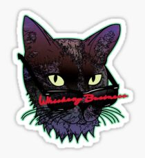 Whiskery Business Sticker
