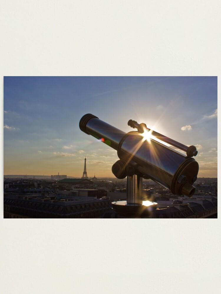 Alternate view of Sunset on Paris Photographic Print